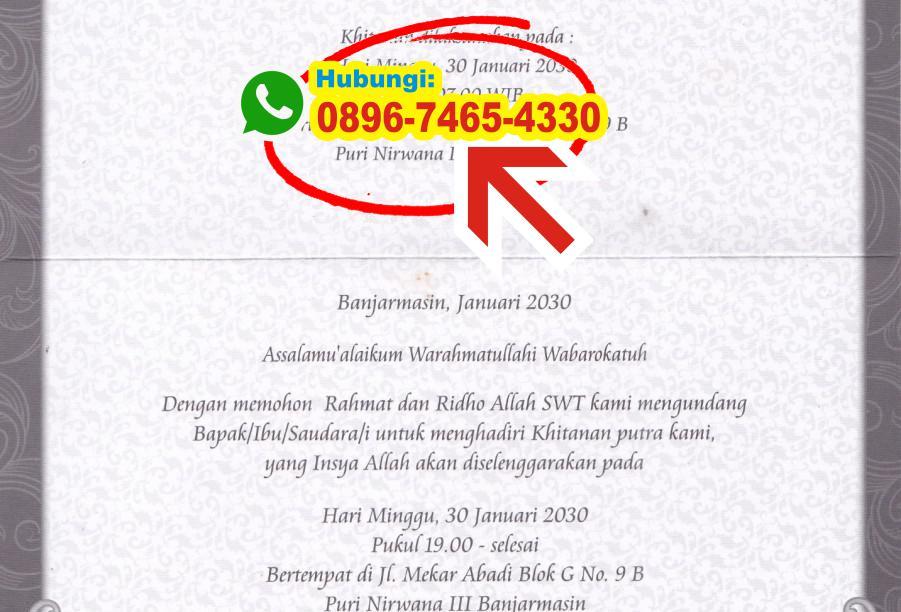 Contoh Undangan Khitan Bahasa Sunda 0896 7465 4330 Wa